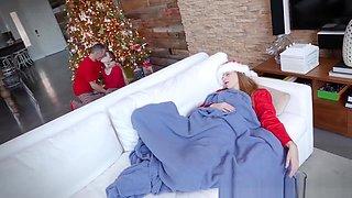 Niki got to taste stepdas nice thick jizz on the holidays
