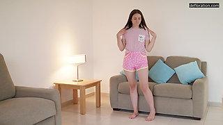 Innocent tight petite virgin babe Marfa Pushkina casting