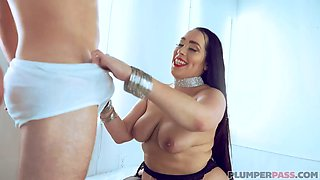 Sexy brunette with huge ass gets fucked