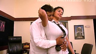 Desi School Girl Romancing With Professor For Promotion - Big Boob Pressed Bgrade