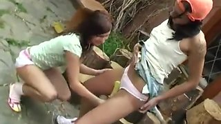 Teen leaked video amateur xxx Cutting wood and munching pussy