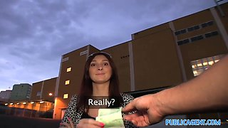 PublicAgent HD Brunette Hair mother I'd like to fuck receives her cunt pounded