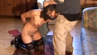 Old daddy punish young daughter