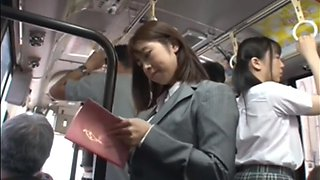 Asian Schoolgirl Seduces Teacher on Public Bus