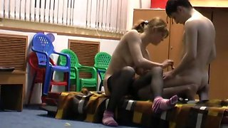 Babysitter caught on hidden camera