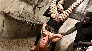 Redhead Mistress Teen Seduce to Intensive Orgasm German BDSM