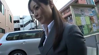 Minami Asano naughty Asian milf has sex in her office suit