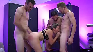 Wife pounded by the team