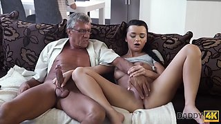 DADDY4K. Old dad lured into unplanned sex with sons excited gf