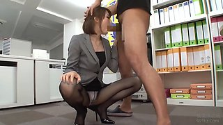 Asian secretary got down and dirty