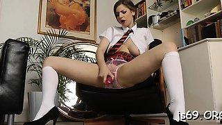 Fucker bangs brunette lady Stella Cox with big tits