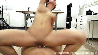 Czech Casting - Busty Nikola rides the cock