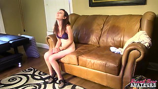 Amateur in casting couch interview gets fucked good