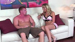 Blonde milf Alana enjoys ass to mouth