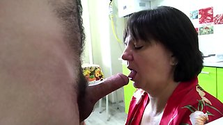 The stepmother had anal sex in the kitchen her son. Mom big ass anal