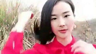 Chinese couple milf outdoor street public amateur webcam