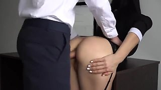 Anal Creampie for Sexy Secretary, Boss Fucked her Tight Pussy and Ass 1080p