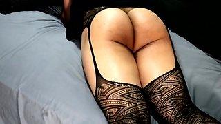 Sexy Crossdresser in her Black Dress & Stockings