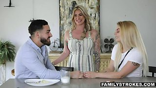 FAMILYSTROKES Lonely Stepmom Lolly Dames Rides Stepson's Big Cock To Heaven