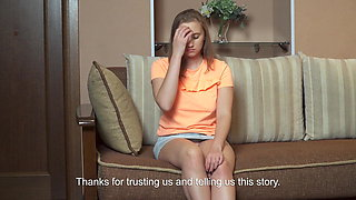 Teen defloration, Mila Utkina showing hymen