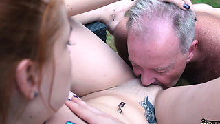 Teen nympho fucked hardcore in old and young porn video
