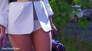 Jeny Smith In Independent Woman In Pantyhose Without Panties
