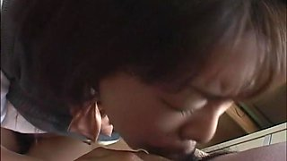 Filthy and horny Asian student stripping off, fondled and hard fucked to orgasm
