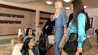 Glamorous messy orgy with Coco de Mal and her slutty friends
