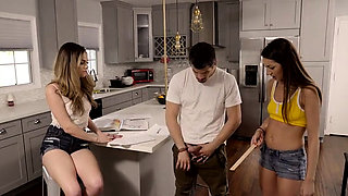 Lily Adams claims her stepbros dick is tiny but she and her