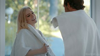 Saint dude can't resist fucking sinful blond babe Emma Starletto