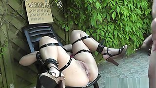 Sex slave bondaged, barebacked and creampied - Sex slave bon