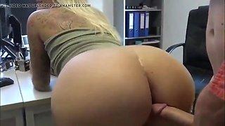 Naughty milf with big ass having fun with boss and neighbor