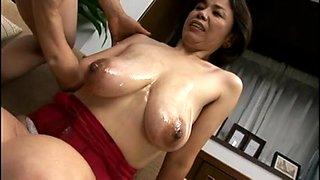 Breasty Japanese granny screwed inexperienced