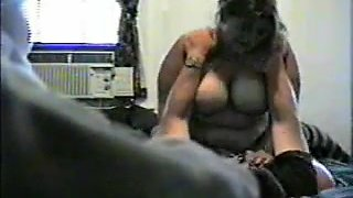 Horny Fat BBW Ex GF riding cock on hidden cam
