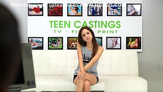 Brutal casting audition for innocent teenie