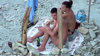 Beach oral from hidden camera