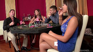 Wild group sex with wife swapping - Dona Bell and Valery Summer