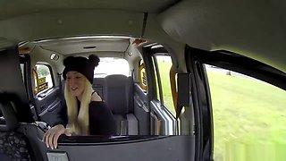 Busty hot blonde Amber Deen sucks and fucks taxi driver