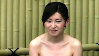 Voyeur spying on lovely Japanese ladies in the bath house