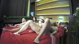 Blonde schoolgirl rides a fat big dick