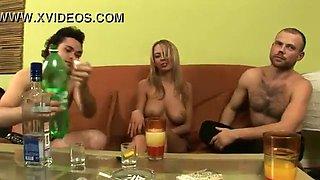 Super hot blonde gets drunk