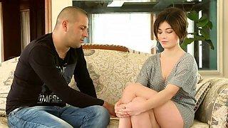 Cute short haired virgin Marfa Piroshka is shy on casting