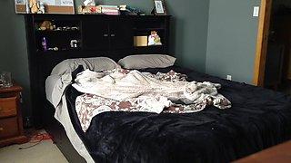 ROOMMATE caught on hidden spy cam NAKED in bedroom!