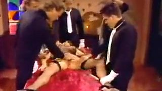 horny vintage babe gangbang by 5 guys