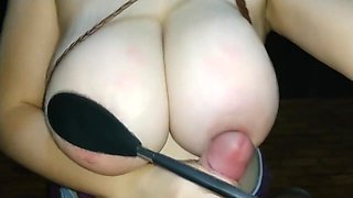 Just some huge titty abuse