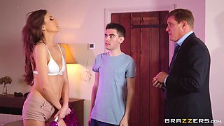 On The Couch, Tina Kay And Jordi El Nino Polla In Son Is Fucking His Dads New Hot Wife In The Living Room