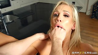 Rebecca More in Meeting His Horny Monster: A XXX Parody - BRAZZERS