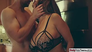 Milf ava addams enjoys her bfs dick in between her big tits