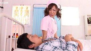 Exotic Japanese slut Misa Ando in Best Blowjob, Stockings JAV clip