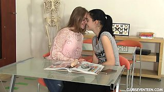 Naughty students fucking each other in classroom